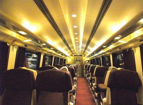 Carriage on the Midland Main Line - First Class