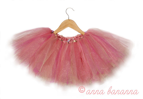 gold and pinks tutu