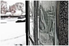 Winter windows () Tags: seattle street old windows winter white snow black building classic ice glass weather architecture vintage square concrete sadness washington slick pretty mood state antique scenic bank scene historic retro depression americana tacoma lakewood past classy