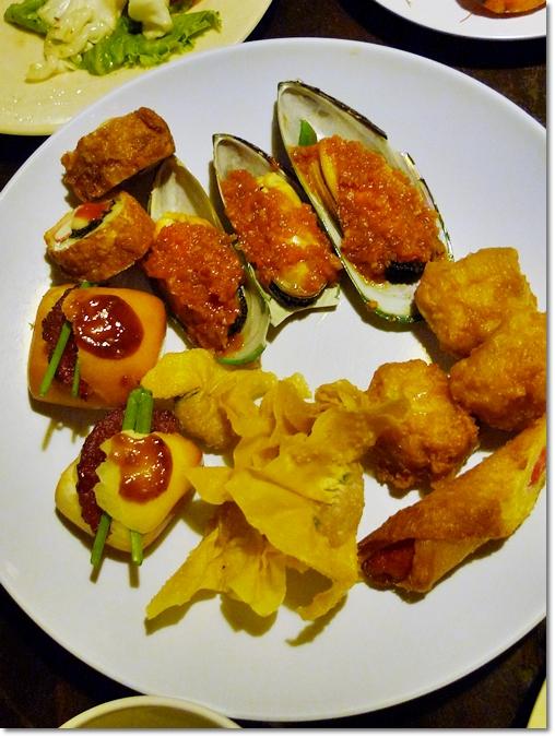 Mussels, Fried Wanton