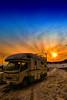 Winter Sunset (/\ltus) Tags: sunset snow ski japan parkinglot rv tohoku campingcar vantech zil520 altsbandai