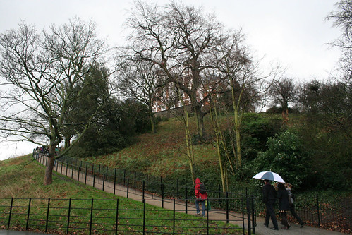 The climb up to the Observatory