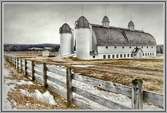 not your ordinary barn... (laura's Point of View) Tags: winter snow cold field barn fence michigan pasture glenarbor m109 glenhaven historicbuildings northernmichigan historicbarn dhdayfarm dhdaybarn platinumheartaward mygearandme mygearandmepremium mygearandmebronze mygearandmesilver mygearandmegold lauraspointofview lauraspov artistoftheyearlevel4