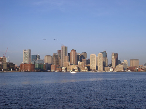 """Boston (MA, USA) - Skyline at 7:00am • <a style=""""font-size:0.8em;"""" href=""""http://www.flickr.com/photos/53054107@N06/5483143764/"""" target=""""_blank"""">View on Flickr</a>"""