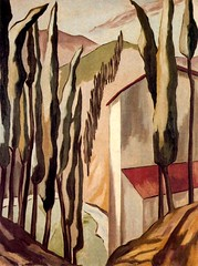 Magnelli, Alberto (1888-1971) - 1922 Tuscan Landscape (Magnelli Collection, Meudon, France) (RasMarley) Tags: trees 1920s house landscape italian painter 1922 20thcentury cubism privatecollection magnelli tuscanlandscape albertomagnelli