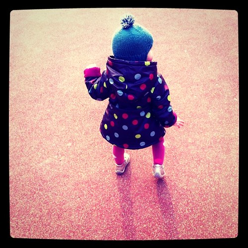 Alixe's first walk at the park