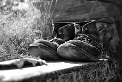 Una vita alle spalle - A life behind (Tati@) Tags: life bw shoes boots memories oldness bn past ricordi tati vecchiaia stanchezza scarponi annatatti bestcapturesaoi hsinzos elitegalleryaoi mygearandme mygearandmepremium mygearandmebronze