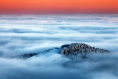 Bed Of Clouds (Evgeni Dinev) Tags: winter mountain snow clouds dawn peak bulgaria shipka balkan