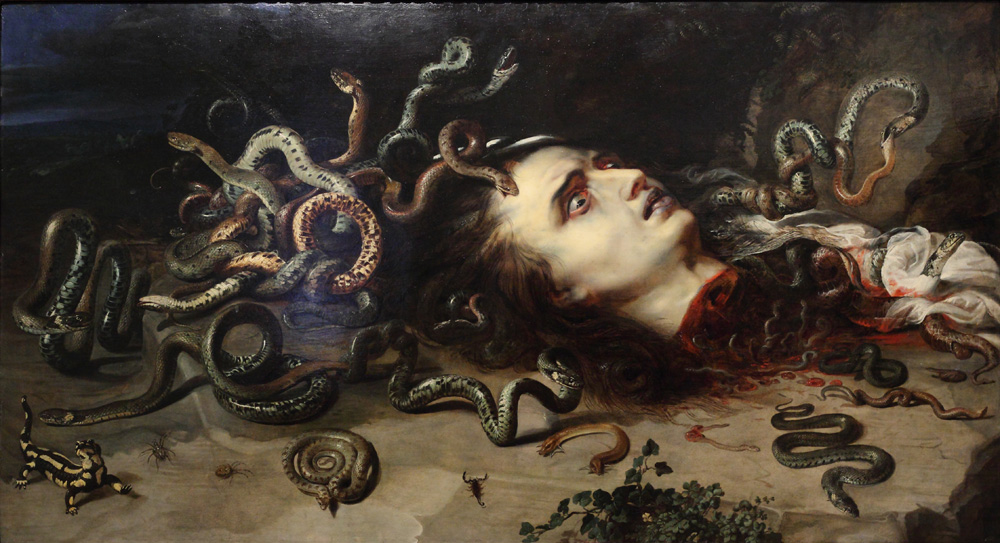 Peeter Pauwel Rubens and Frans Snyders, Head of Medusa, 1617-18