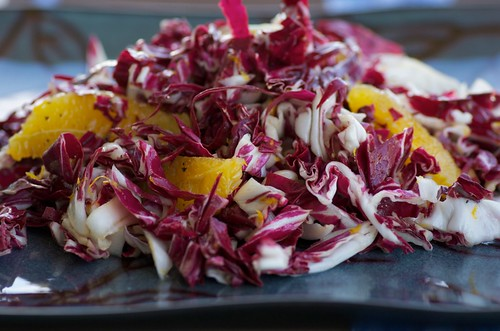 radicchio and orange salad with champagne vinaigrette