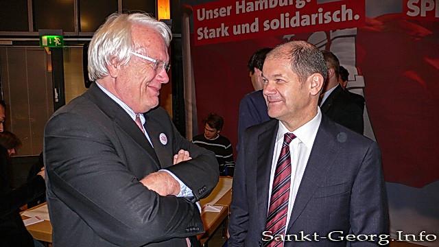 Helmut Voigtland (Bürgerverein St. Georg) & Olaf Scholz (SPD)