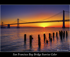 San Francisco Bay Bridge Sunrise Color (davidyuweb) Tags: sanfrancisco california bridge usa color sunrise bay san francisco sfbay sfist saariysqualitypictures