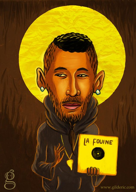 Pop Icons : La Fouine - Caricature : Gilderic