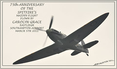 SPITFIRES 75TH ANNIVERSARY (bobspicturebox) Tags: training carolyn wings fighter display anniversary engine twin grace merlin ww2 guns stick spitfire mitchell fighting pilot 75th trainer prop worldwar2 supermarine propeler twinstick roundels ml407 thegracespitfire