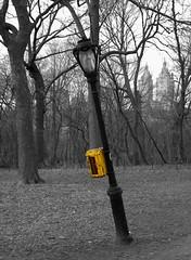 Cockeyed (STEPfuturistico) Tags: blackandwhite bw newyork lamp yellow streetlamp manhattan lantern biancoenero lampione stefanozanussi