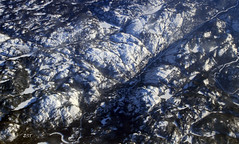 Frozen Meanders (zeesstof) Tags: canada lakes aerial rivers shield windowseatplease frozenlakes meanders newfoundlandandlabrador frozenrivers canon7d canon18135is zeesstof