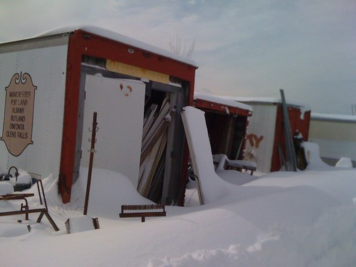 architectural salvage in the snow