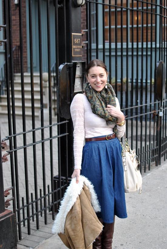 denim skirt-brunch5
