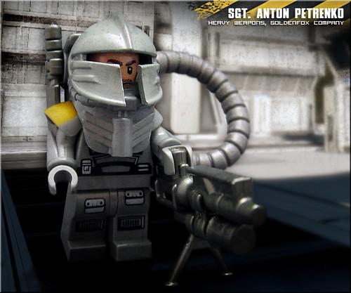 Custom minifig Sgt. Anton Petrenko (Goldenfox Company)