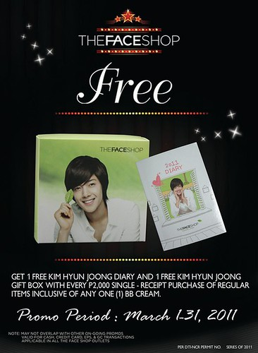 Kim Hyun Joong The Face Shop Philippines IN STORE Promos Posters [March 2011]