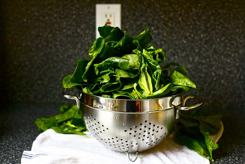 overflowing spinach