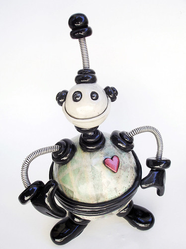 Black Jack Storage Bot Robot Sculpture - Full Body