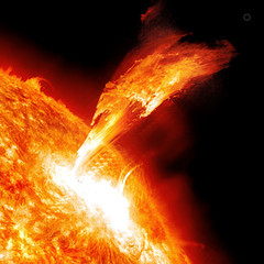 Solar Flare (SDO AIA 304) 3-7-11