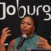 Lindiwe Kwele, chief executive of the Johannesburg Tourism Company, celebrates the success of the city at ITB Berlin
