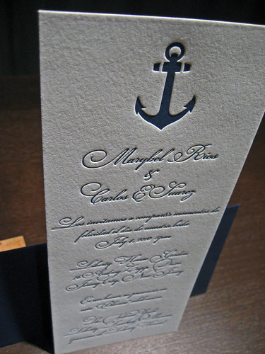 Tea Length Letterpress Invitation Dolce Press