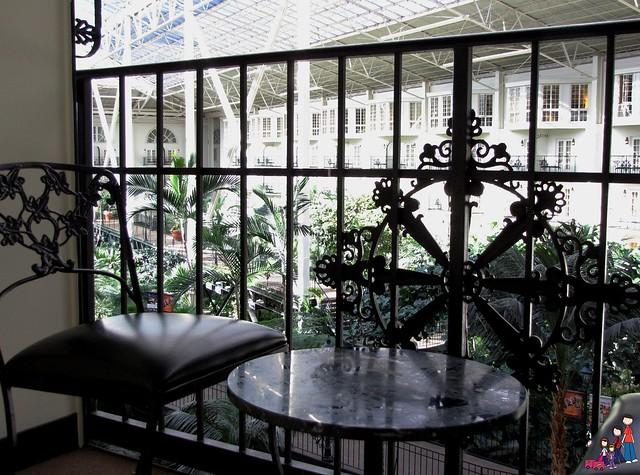 Balcony overlooking Conservatory Gardens