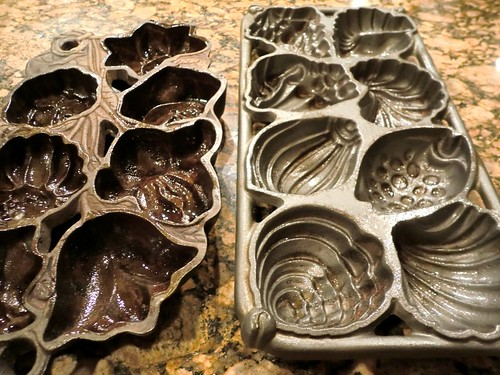 kick-ass cast-iron muffin moulds, available in seashells or flowers!
