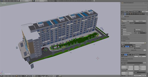 architectural project done on blender