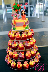 Fairy Party (Bella Cupcakes (Vanessa Iti)) Tags: cupcakes fairy faries crowns cupcaketower bellacupcakes