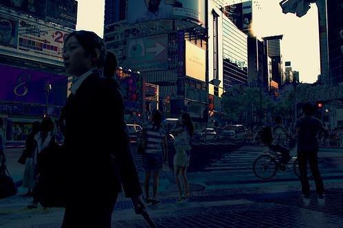 Peatones en Shibuya