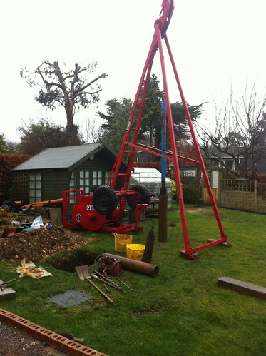 Dando Shell & Auger rig ready to install casing