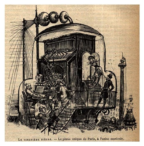 002-El piano de Paris en la fabrica musica-Le Vingtième Siècle 1883- Albert Robidal