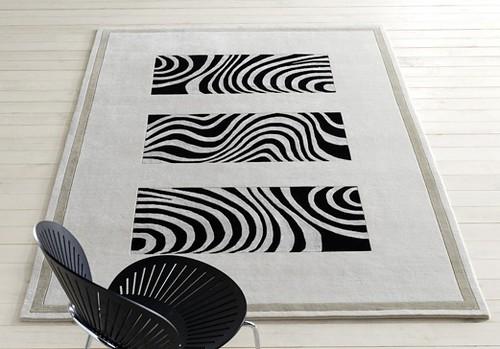 Zebra Puzzle carpet made in India