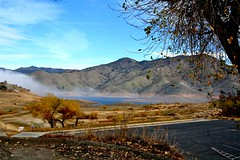 A Different Kind of Oasis (Daria Angeli) Tags: california ca winter usa mountains tree nature america pond parkinglot branches steam oasis deathvalley landscpe otw smalllake natureplus flickraward flickrestrellas spiritofphotography searedleaves