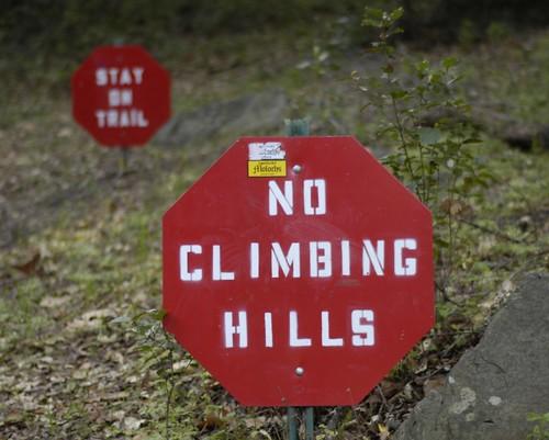 No Climbing Hills