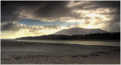 Criffel (Mike Docherty) Tags: sunset beach river coast sand estuary hdr criffel dumfries galloway nith photomatix