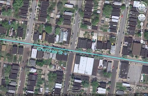Cherokee Street (via Google Earth)