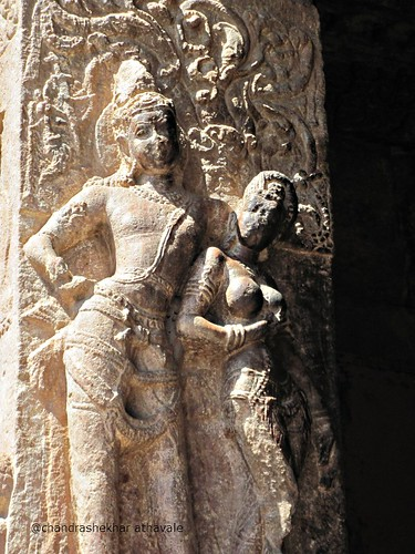 Woman scolding man Virupaksha temple