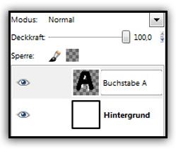 GIMP - Ebenen umbenennen