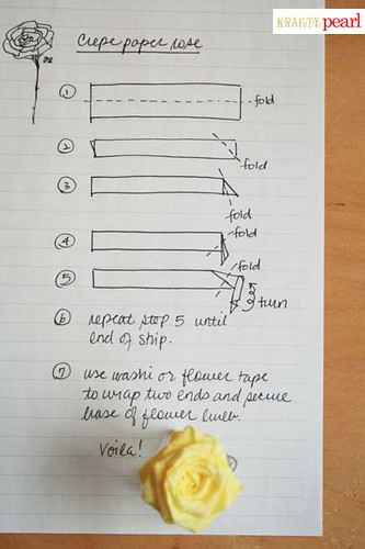 blog - crepe paper rose folding instructions