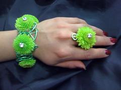 Floral Bracelet and Ring