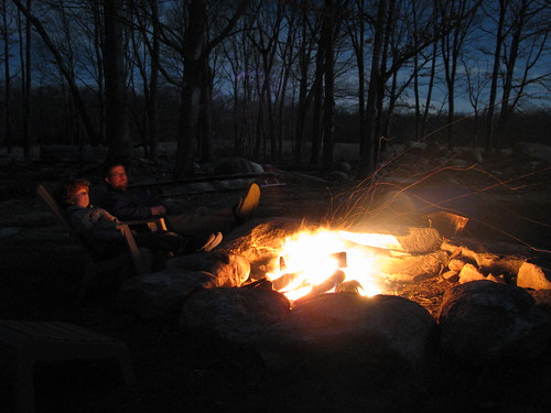 Supermoon campfire