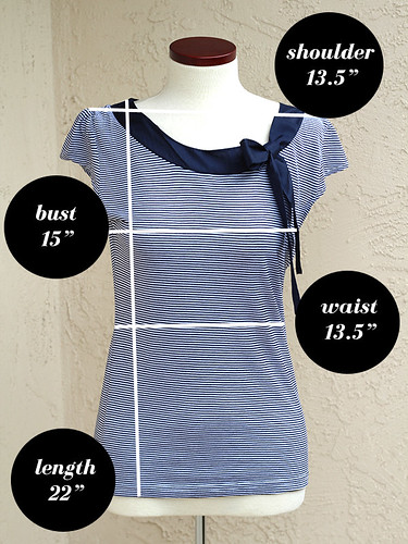 H&M-Striped-Tee-Measurements