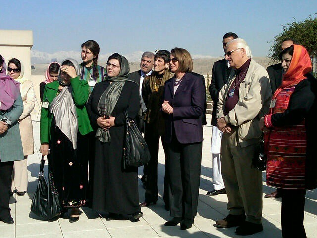 Leader Pelosi and the bipartisan delegation meet with newly-elected members of the Afghan parliament and women members.