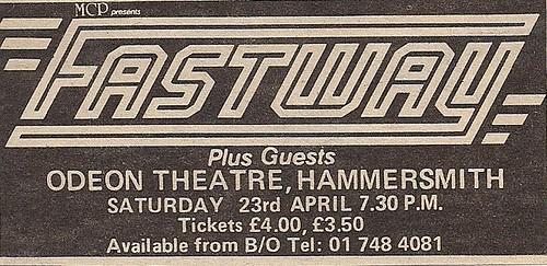 04/23/83 Fastway @ London, England