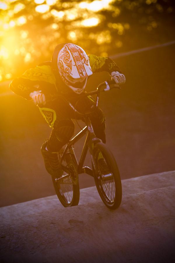 BMX Track Evening Sunlight